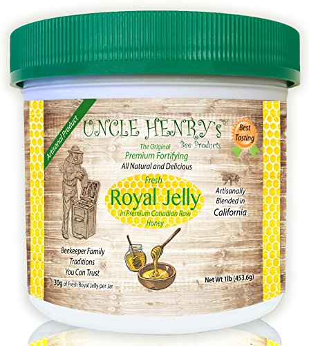 1-Best-Tasting-Royal-Jelly-Premium-Fresh-Farmers-Market-Quality-Big-1lb-Double-Sealed-Artisan-California-Product-Creamy-Raw-Honey-from-Canada-Original-Green-Lid-Youll-Love-it-Henrys-Guarantee-0