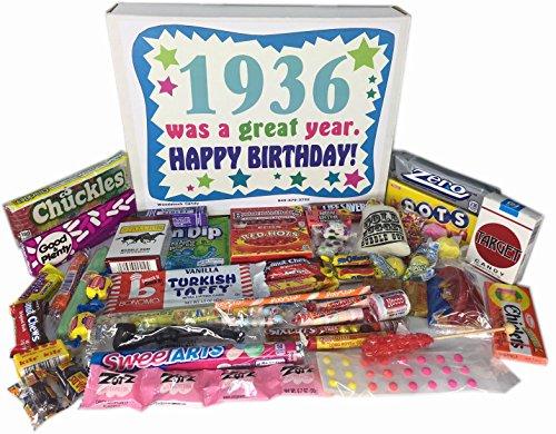 1936 80th Birthday Gift Basket Box Retro Nostalgic Candy From Childhood