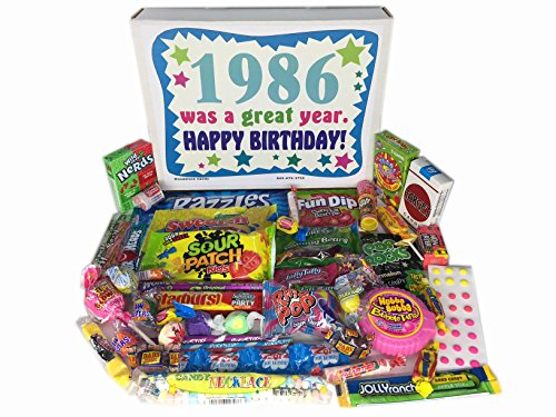 30th Birthday Gift Basket Box 1986 Retro Nostalgic Candy Decade 80s