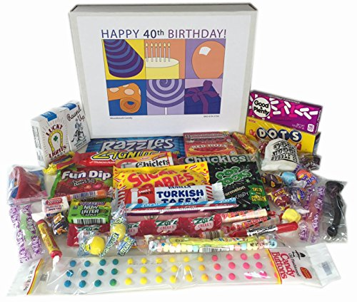 40th Birthday Gift Basket Box Of Retro Nostalgic