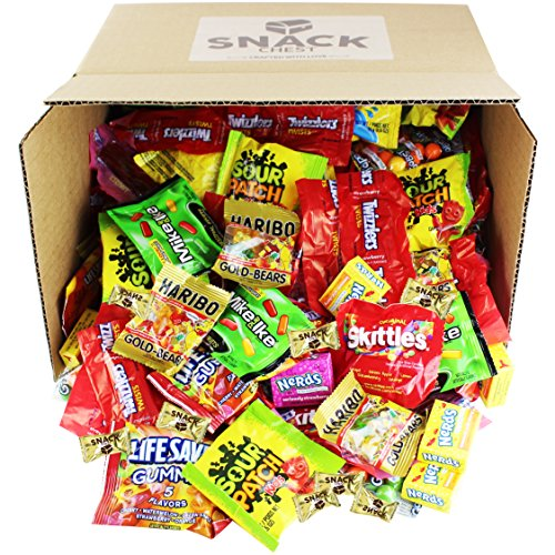 Assorted-Candy-Party-Mix-90-oz-Bulk-Twizzlers-Nerds-Swedish-Fish-Sour-Patch-Skittles-Starburst-Mike-And-Ike-Gummies-and-Much-More-of-Your-Favorite-Candy-Over-200-Individually-Wrapped-Candy-0