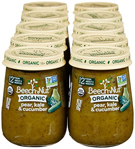 Beech-Nut-Just-Organic-Stage-2-Purees-Pear-Kale-Cucumber-425-Oz-10-pk-0-0