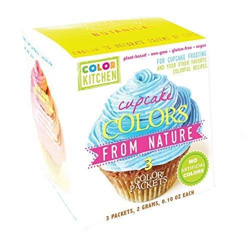 Cupcake-Coloring-Set-PINK-YELLOW-and-BLUE-All-Natural-Vegan-Non-GMO-0