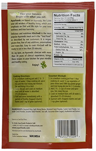 Dr-Jays-Ayurfoods-Khichadi-6-Pack-Premium-Blend-of-Basmati-Rice-Mung-Bean-and-Spices-including-Turmeric-FREE-of-Preservatives-BEST-All-Natural-Ingredients-Vegan-Vegetarian-Gluten-Free-Ayurvedic-Ready–0-1