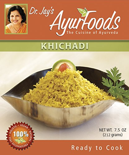 Dr-Jays-Ayurfoods-Khichadi-6-Pack-Premium-Blend-of-Basmati-Rice-Mung-Bean-and-Spices-including-Turmeric-FREE-of-Preservatives-BEST-All-Natural-Ingredients-Vegan-Vegetarian-Gluten-Free-Ayurvedic-Ready–0