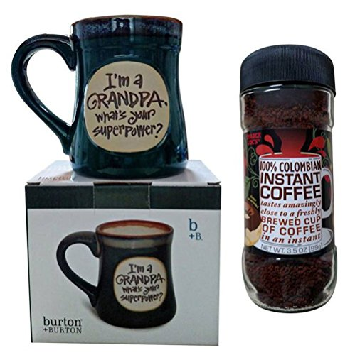 Fathers-Day-Gift-Set-Bundle-for-Grandfathers-Im-a-GRANDPA-Whats-Your-Superpower-Mug-with-Trader-Joes-100-Columbian-Instant-Coffee-0