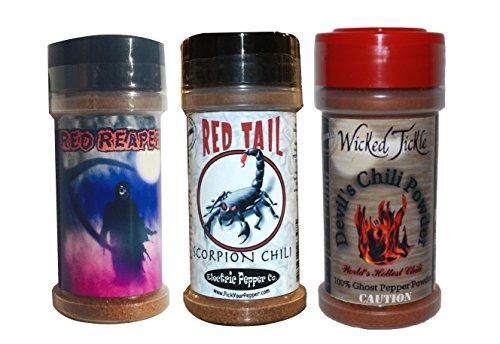 Ghost-Pepper-Powder-Trinidad-Moruga-Scorpion-Powder-Carolina-Reaper-Chili-Spice-3-Pack-Gift-0