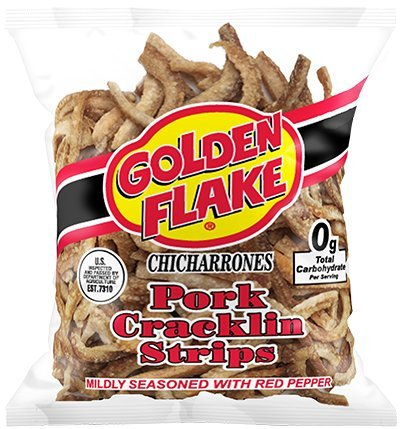Golden-Flake-Pork-Cracklins-WRed-Pepper-Seasoning-350-oz-Pack-4-0