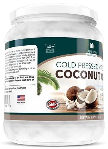 Hamilton-Healthcare-Organic-Extra-Virgin-Cold-Pressed-Coconut-Oil-Pure-Unrefined-16-Ounce-1-lb-0-1