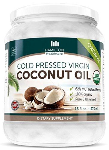 Hamilton-Healthcare-Organic-Extra-Virgin-Cold-Pressed-Coconut-Oil-Pure-Unrefined-16-Ounce-1-lb-0
