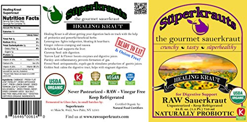 Healing-SAUERKRAUT-for-Digestive-Support-Organic-Kosher-Raw-Fermented-Unpasteurized-Probiotic-Free-Shipping-wMinimum-15-Flavors-available-24-floz-incl-brine-0-0