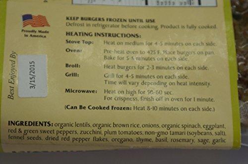 ITALIAN-VEGGIE-BURGERS-6-4-PACKS-Organic-Gluten-Free-Vegan-Veggie-Burgers-Cooked-Fresh-Ships-Frozen-24-TOTAL-Just-Heat-Serve-0-0