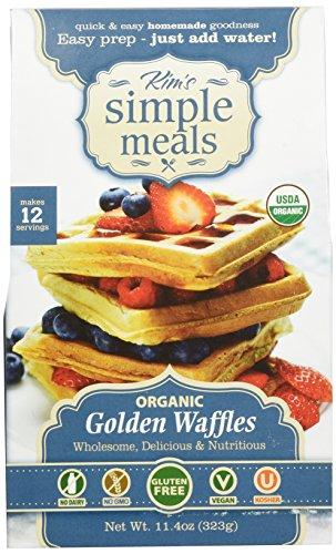 Kims-Simple-Meals-Golden-Waffle-Mix-One-114-oz-Box-Organic-Gluten-Free-Vegan-Non-GMO-Kosher-0