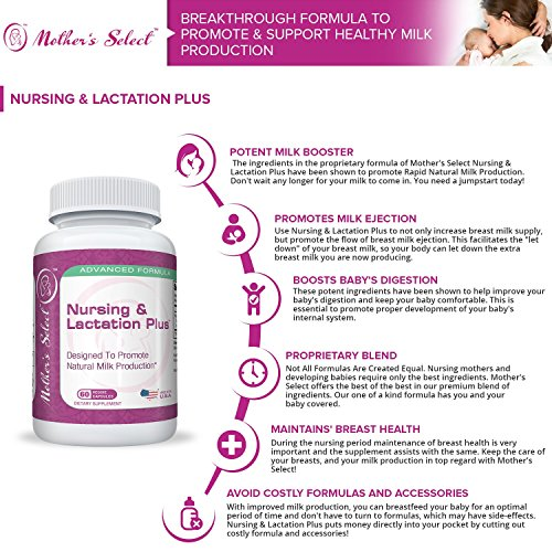 Lactation-Supplement-with-Fenugreek-Plus-Blessed-Thistle-Fennel-Seed-Marshmallow-Root-by-Mothers-Select-120-Herbal-Vegetarian-Breastfeeding-Capsules-More-Breast-Milk-Supply-Nursing-Postnatal-Vitamin-R-0-1