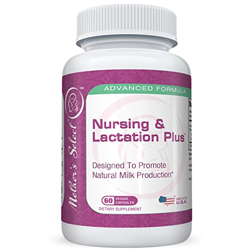 Lactation-Supplement-with-Fenugreek-Plus-Blessed-Thistle-Fennel-Seed-Marshmallow-Root-by-Mothers-Select-120-Herbal-Vegetarian-Breastfeeding-Capsules-More-Breast-Milk-Supply-Nursing-Postnatal-Vitamin-R-0