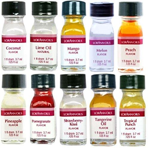 Lorann-Oils-Dram-10-Pack-FF2-Fruit-Flavor-Pack-of-10-1-Dram-0