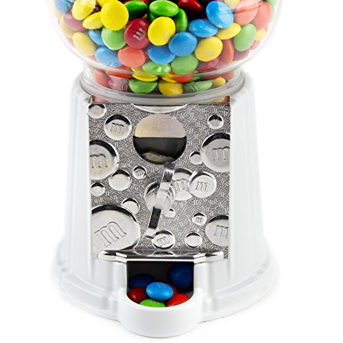 M&M Candy Dispenser Machine + Free Pound of M&M's, Great Gift for All Ages –