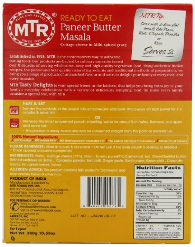MTR-Paneer-Butter-Masala-1058-Ounce-Boxes-Pack-of-10-0-1