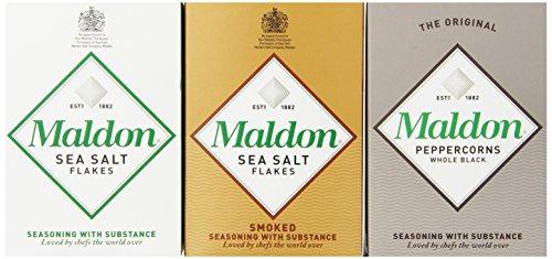 Maldon-Triple-Gift-Pack-Sea-Salt-Smoked-Sea-Salt-Black-Peppercorns-102-Ounce-0