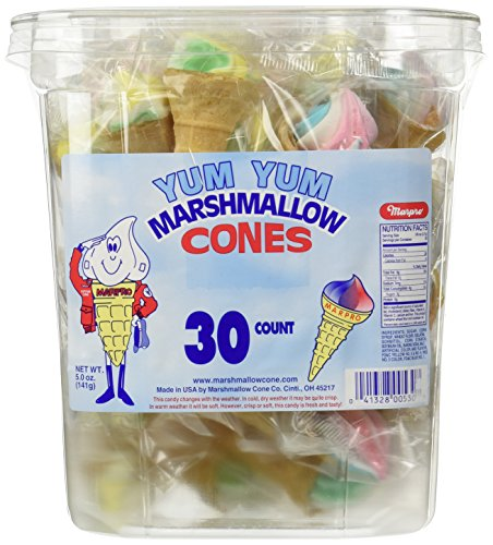 Marpro-Yum-Yum-Marshmallow-Candy-Cones-30-Ct-Tub-Fat-Free-0