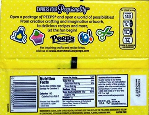 Marshmallow-Peeps-Yellow-Chicks-10-Ct-Tray-Pack-of-4-0-0