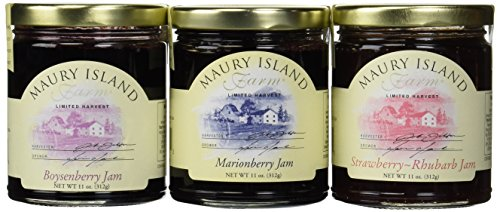 Maury-Island-Limited-Harvest-Jams-3-Flavor-Variety-One-11-oz-Jar-Each-of-Boysenberry-Marionberry-and-Strawberry-Rhubarb-in-a-BlackTie-Box-3-Items-Total-0