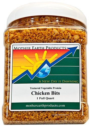 Mother-Earth-Products-Textured-Vegetable-Protein-Chicken-Bits-1-Full-Quart-0