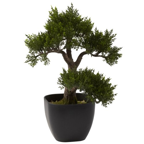 Nearly-Natural-4966-Cedar-Bonsai-Artificial-Tree-15-Inch-Green-0