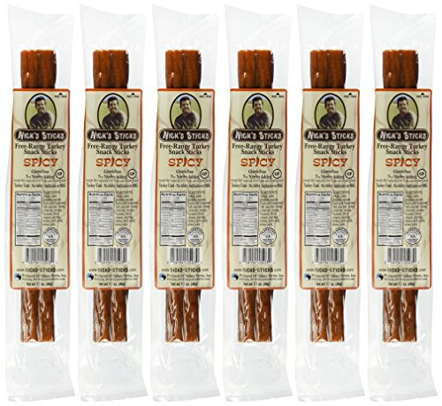 Nicks-Sticks-Spicy-Free-Range-Turkey-Snack-Sticks-Gluten-Free-No-Antibiotics-or-Hormones-6-Packages-of-2-Sticks-0-0