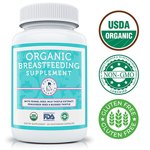 Organic-Breastfeeding-Supplement-Increase-Milk-Supply-Herbal-Lactation-Support-Aid-with-Fenugreek-Seed-Fennel-Seed-Milk-Thistle-Blessed-Thistle-60-Vegetarian-Capsules-0-0