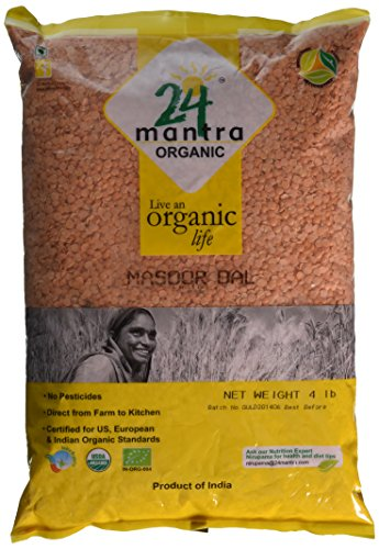 Organic-Masoor-Dal-Split-Red-Lentils-Bulk–USDA-Certified-Organic–European-Union-Certified-Organic–Pesticides-Free–Adulteration-Free–Sodium-Free-4-Lbs-64-Ounces-24-Mantra-Organic-0