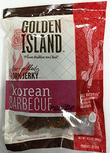 Pack-of-2-Pork-Jerky-Korean-Barbecue-Recipe-Gourmet-Snack-Sweet-Smoky-Grilled-Golden-Island-145oz-0