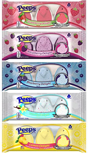 Peeps-Delights-Bundle-of-Chicks-1-Package-Each-of-Lemon-Blueberry-Raspberry-Strawberry-and-Vanilla-0