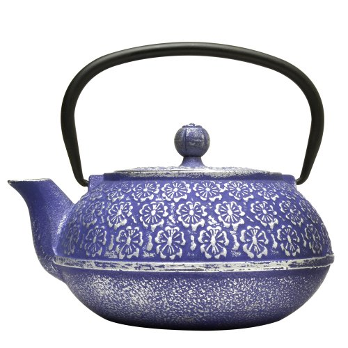 Primula-Teapot-with-Stainless-Steel-Infuser-and-Loose-Green-Tea-Packet-40-Ounce-Blue-Floral-0