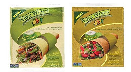 Pure-Wraps-Paleo-Coconut-Wraps-Original-Curry-Sampler-4-Per-Pack-8-wraps-0