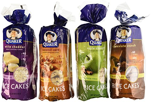 Quaker-Rice-Cakes-Variety-Bundle-Pack-of-4-Flavors-Chocolate-Crunch-Apple-Cinnamon-Caramel-Corn-White-Cheddar-0