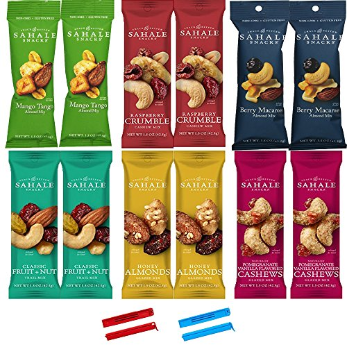 Sahale-Snacks-All-Natural-Nut-Blends-Grab-And-Go-Variety-Pack-15-oz-x-12-Packs-with-2-x-2-Snack-Clips-0