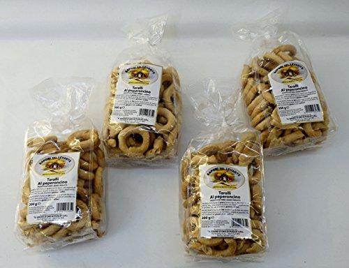 Sapori-del-Levante-Taralli-al-Peperoncino-1058-Ounce-300gr-Package-Pack-of-4-Italian-Import-0