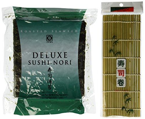 Seaweed-Nori-for-Sushi-Making-50-Full-Size-Sheets-1-Sushi-Mat-0
