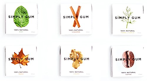 Simply-Gum-Assorted-Natural-Chewing-Gum-6-Pack-90-Pieces-Mint-Cinnamon-Ginger-Fennel-Coffee-Maple-0-0