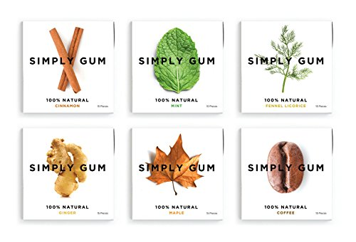 Simply-Gum-Assorted-Natural-Chewing-Gum-6-Pack-90-Pieces-Mint-Cinnamon-Ginger-Fennel-Coffee-Maple-0