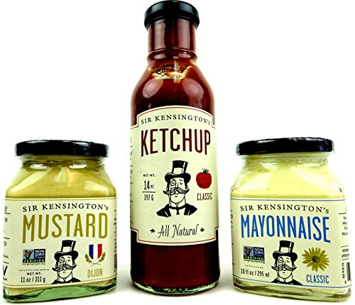 Sir-Kensingtons-Sauces-3-Flavor-Variety-One-14-oz-Bottle-of-Classic-Ketchup-One-11-oz-Jar-of-Dijon-Mustard-and-One-10-oz-Jar-of-Classic-Mayonnaise-in-a-BlackTie-Box-3-Items-Total-0-0