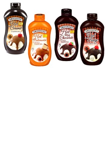 Smuckers-Heat-Pour-Ice-Cream-Toppings-VARIETY-PACK-1-Squeeze-Bottle-of-HOT-FUDGE-TOPPING-1-HOT-CARAMEL-TOPPING-1-HOT-BUTTERSCOTCH-TOPPING-1-HOT-MILK-CHOCOLATE-TOPPING-Microwaveable-15-oz-4-PACK-0