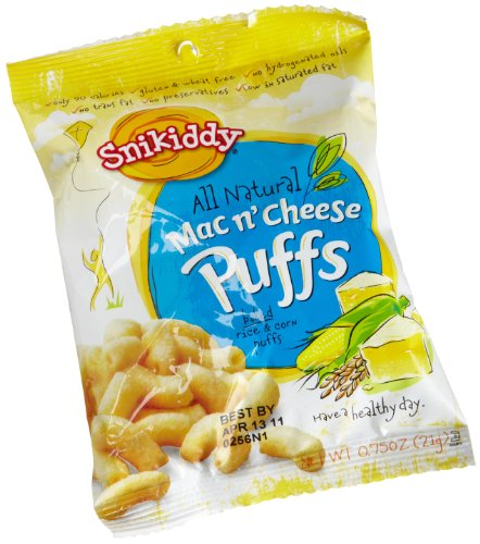 Snikiddy-Snacks-Mac-N-Cheese-Puffs-075-Ounce-Pack-of-72-0-0