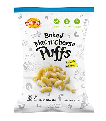 Snikiddy-Snacks-Mac-N-Cheese-Puffs-075-Ounce-Pack-of-72-0