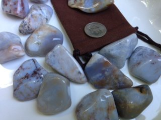 Stone-set-Take-back-your-life-Ravenz-roost-stones-with-a-velour-pouch-and-info-card-on-crystal-clearing-0-1