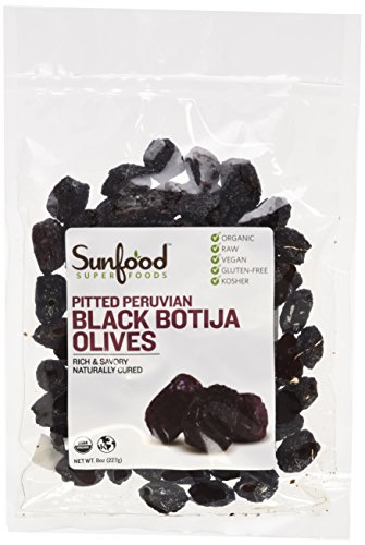Sunfood-Black-Botija-Olives-PittedOrganic-Raw-8-oz-Packet-0