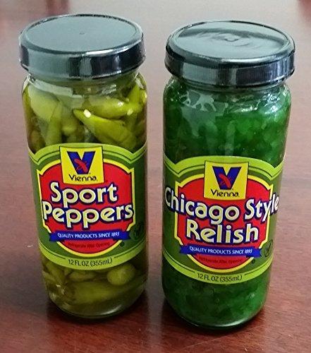 Vienna-Chicago-Style-Relish-12-oz-and-Vienna-Sport-Pepper-12-oz-Bundle-0