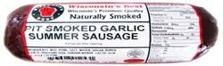WISCONSINS-BEST-PIT-SMOKED-Summer-Sausages-SAMPLER-Gift-Basket-All-Natural-features-Garlic-Original-and-Onion-Garlic-3-12-oz-Pckgs-Perfect-Gifts-for-Sausage-Lovers-0-1