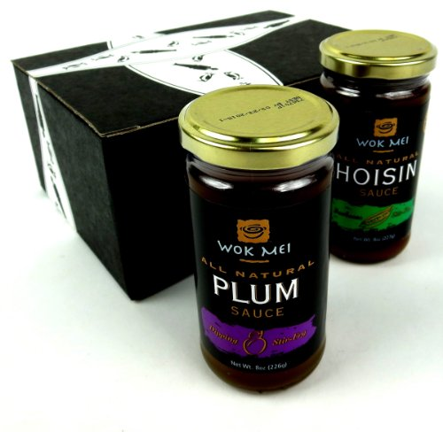 Wok-Mei-Gluten-Free-Sauces-2-Flavor-Variety-One-8-oz-Jar-Each-of-Hoisin-and-Plum-in-a-BlackTie-Box-2-Items-Total-0
